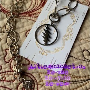 Grateful Dead 13 point bolt necklace